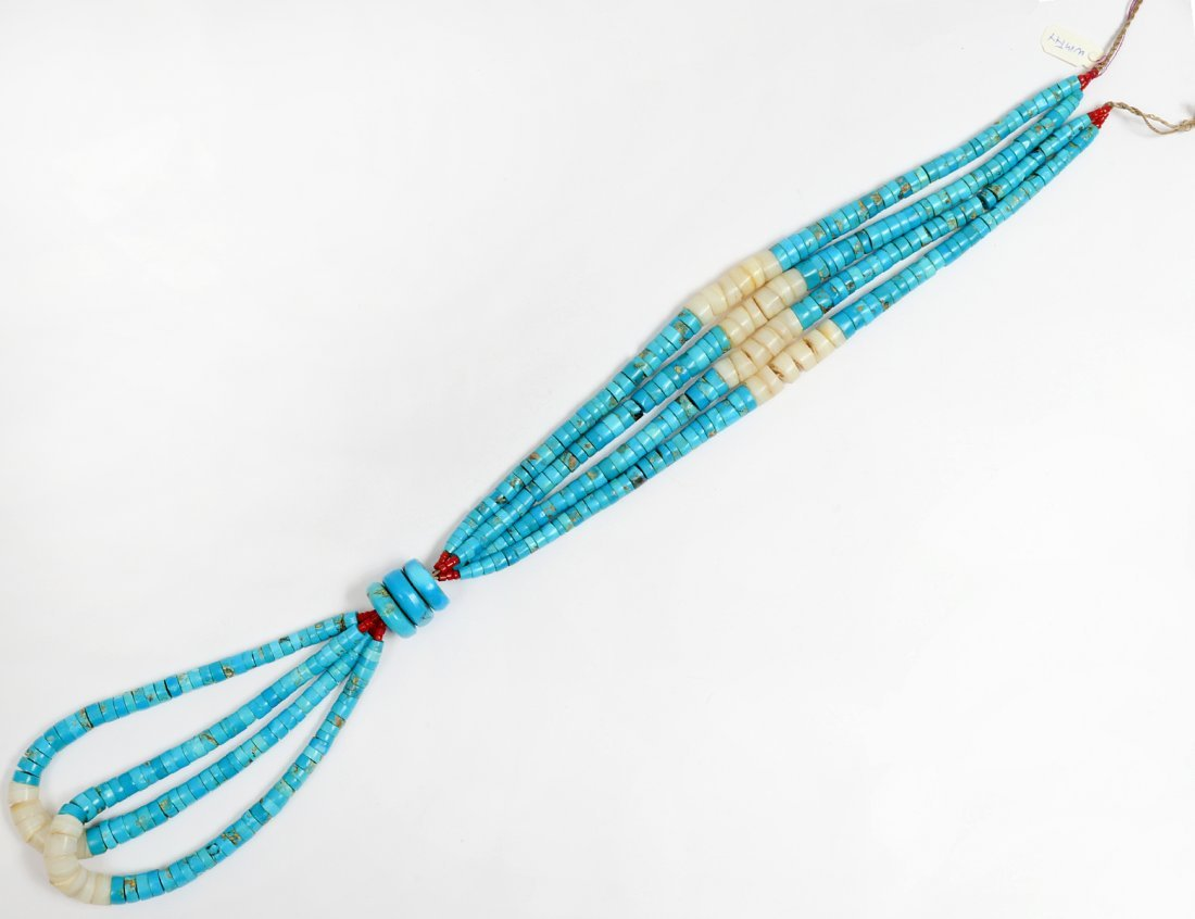 NAVAJO TURQUOISE BEAD NECKLACE