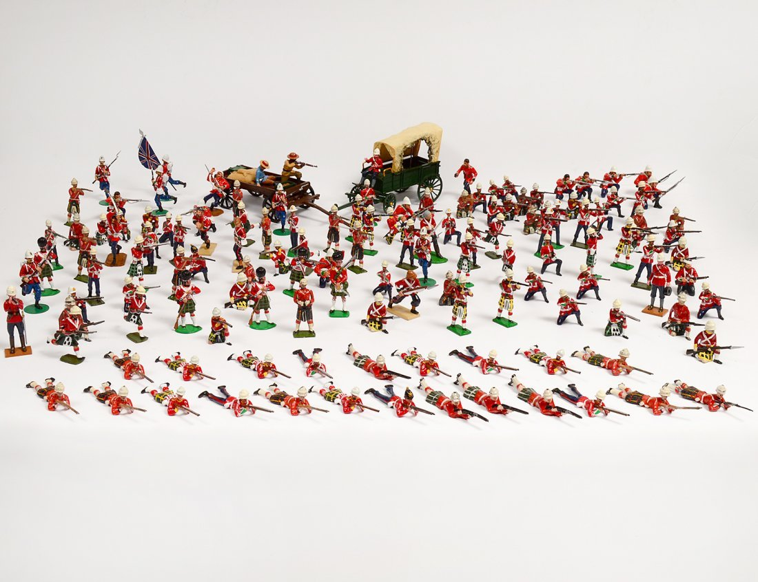 COLLECTION OF ONE HUNDRED, THIRTY-SEVEN TOY SOLDIERS
