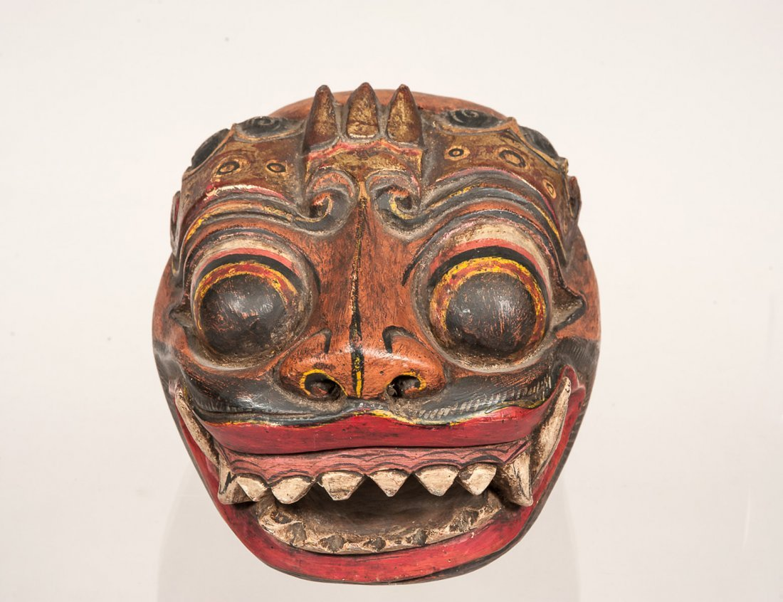BALINESE CARVED WOOD MASK