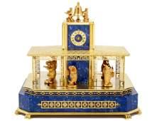 RARE EIGHTEEN KARAT GOLD, LAPIS LAZULI AND PRECIOUS