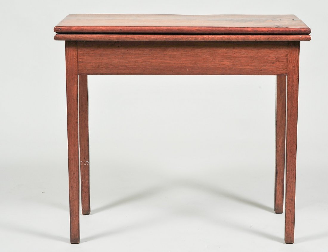 CHIPPENDALE STYLE WALNUT VENEERED GAME TABLE