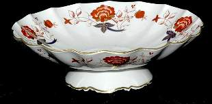 Royal Crown Derby Bali Pattern Footed Scalloped Bowl
