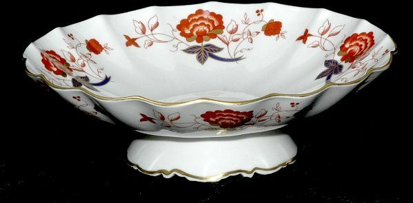 8: Royal Crown Derby Bali Pattern Footed Scalloped Bowl
