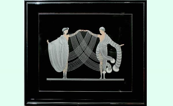 102: Erte French Color Serigraph  Marriage Dance