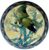 128: Large Sevres Hand painted Decorated Charger