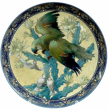 Large Sevres Hand painted Decorated Charger