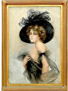 160: Phillip Boileau American Big Hat Lady Cover-girl