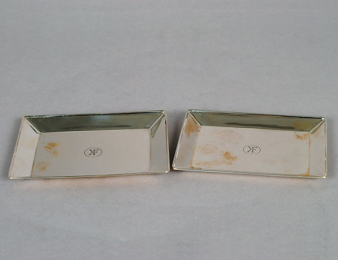 PAIR OF TIFFANY & CO. STERLING SILVER SMALL TRAYS