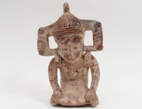 Pre-columbian Style Pottery Figure