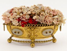 Gilt Bronze And Glass Table Jardiniere