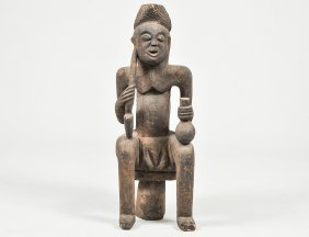 African Tribal Figure Of A Seated Man