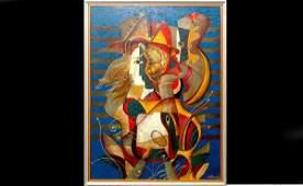461 Oleg Zhivetin 20th C Soviet Union Painting