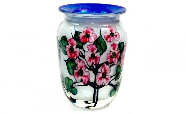 591: John Lotton White Glass Vase