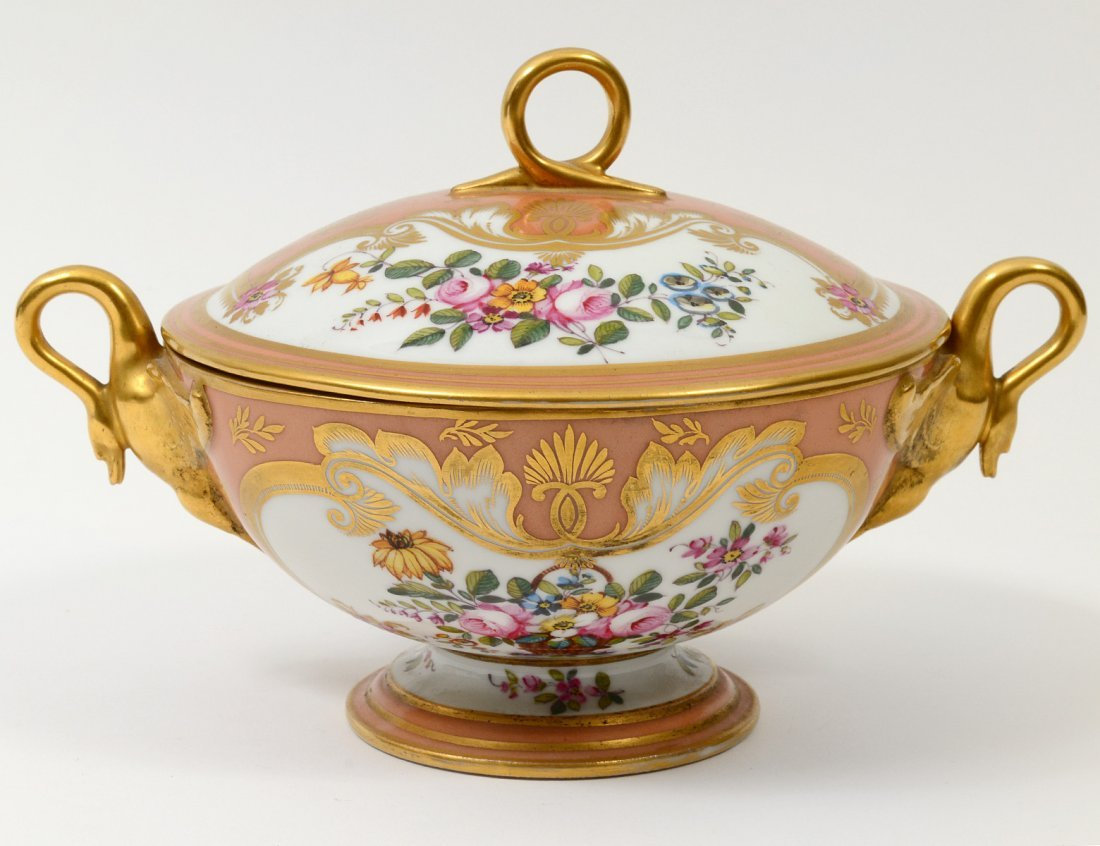 ROCKINGHAM PORCELAIN SAUCE TUREEN AND COVER
