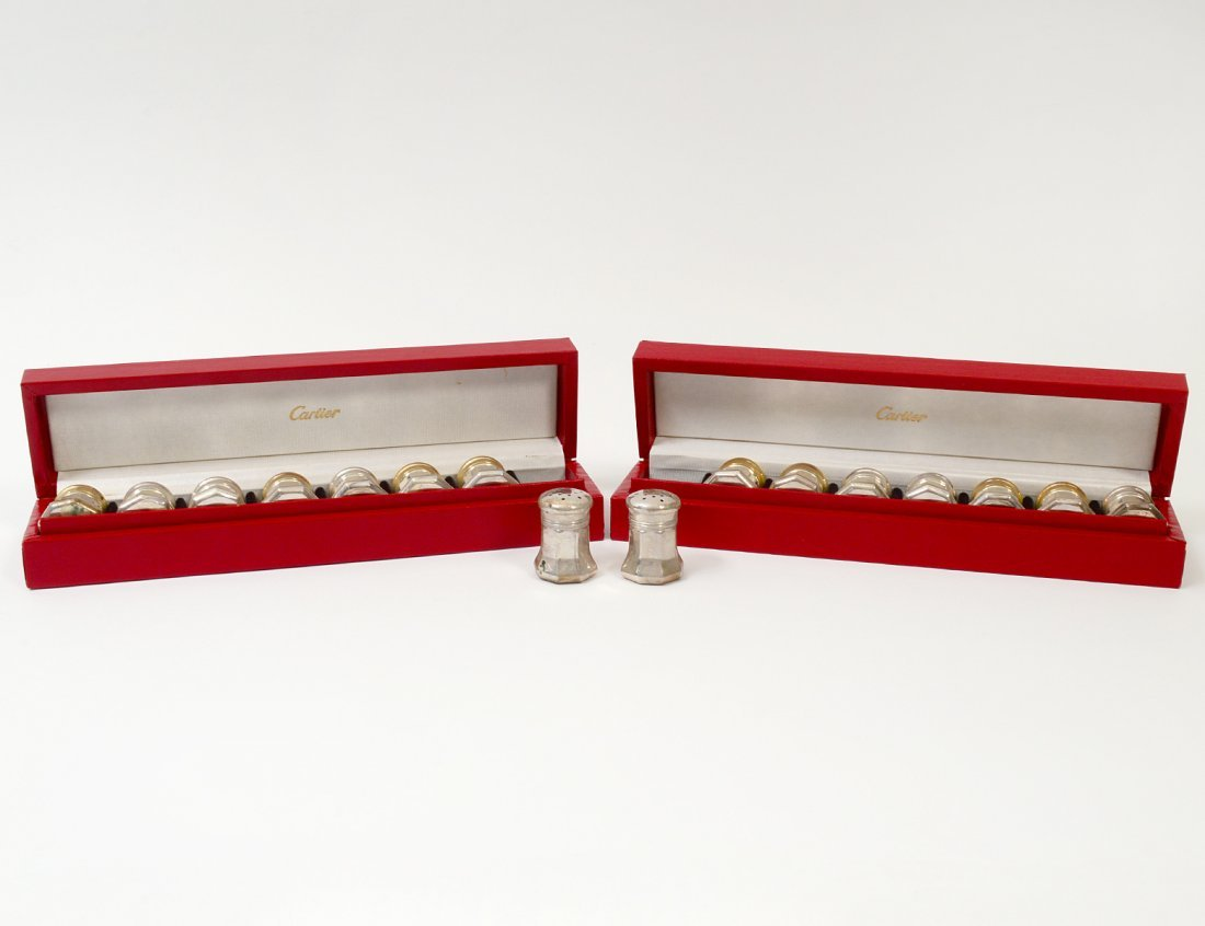 SET OF SIXTEEN CARTIER STERLING SILVER INDIVIDUAL