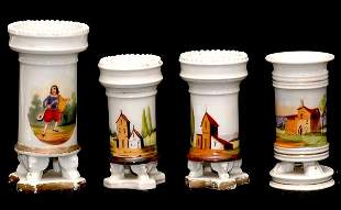 Four Old Paris Vases one as is