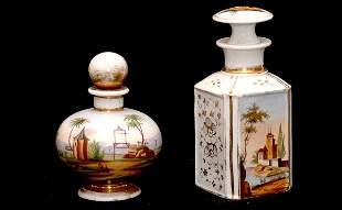 Paris Porcelain Perfume and Cologne Bottles