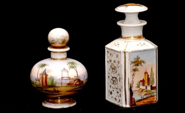 6: Paris Porcelain Perfume and Cologne Bottles