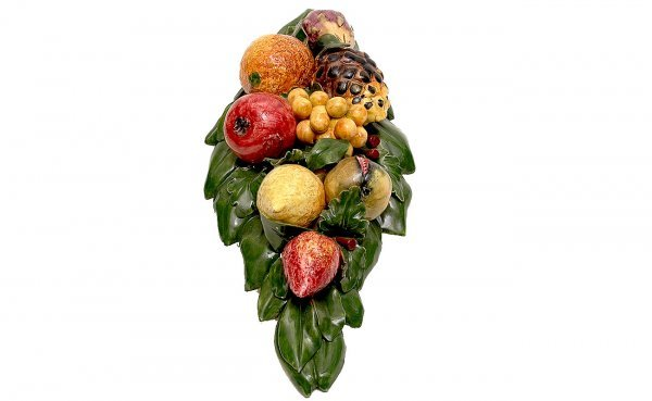 11: Majolica Fruit Relief Wall Hanging