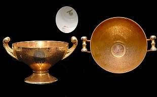 Hutschenreuter Two Handled Gold Centerpiece Bowl