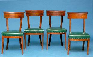 Set of Four Period French Empire Chairs