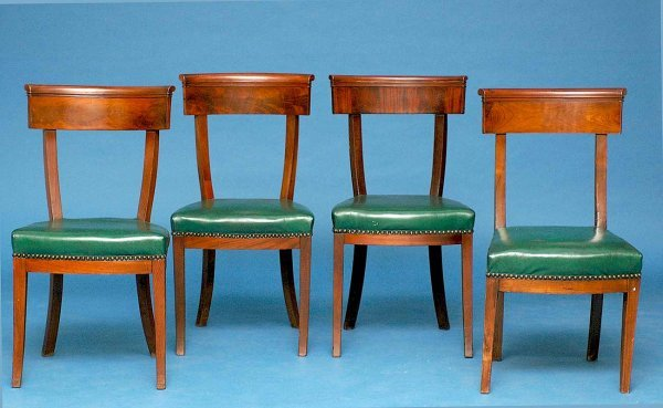 23: Set of Four Period French Empire Chairs
