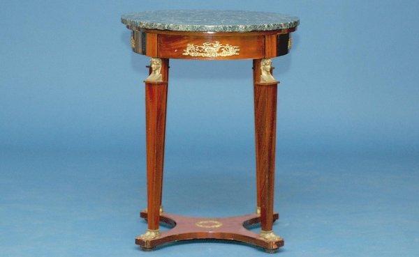 24: Napoleon III Gueridon with Verde Antico Top Table