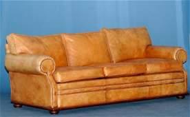 379 Ralph Lauren Leather Upholstered Sofa