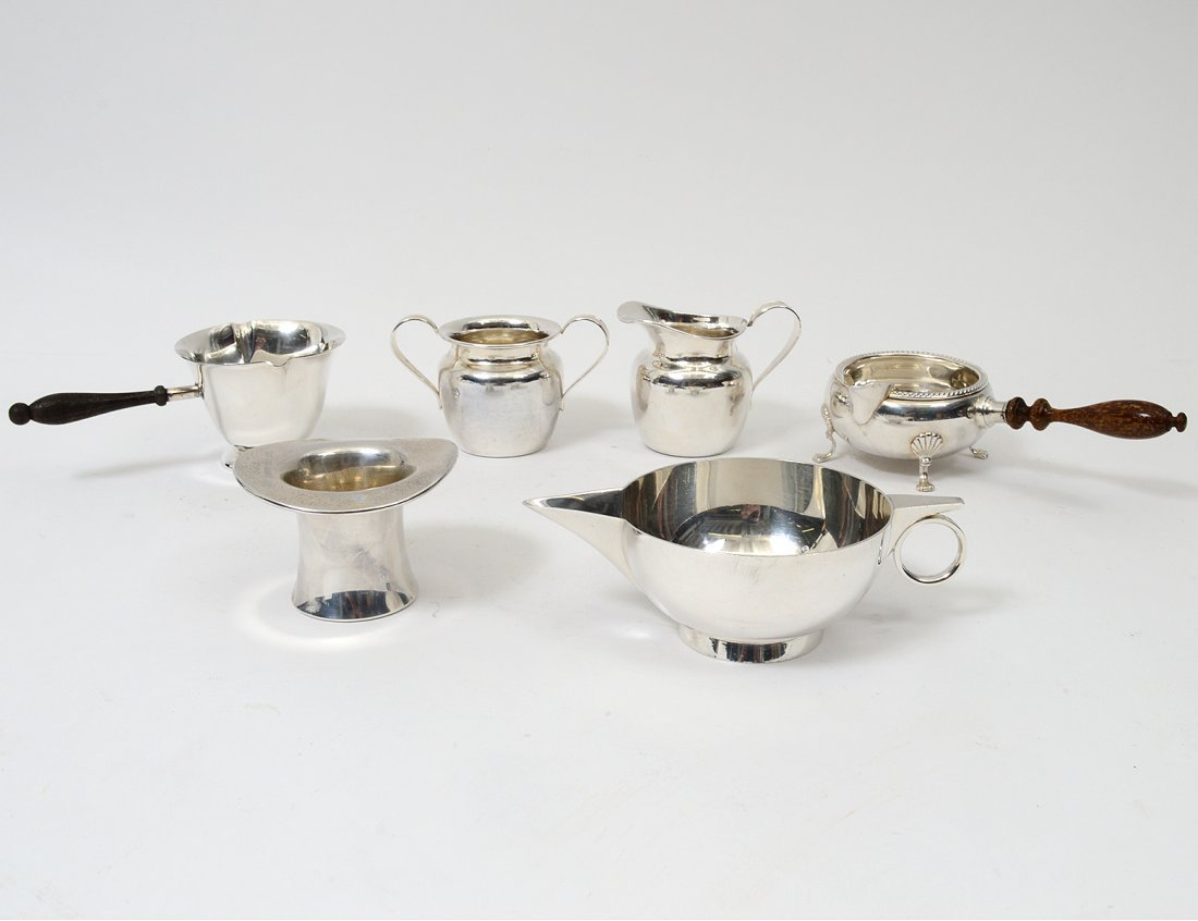 GROUP OF SIX STERLING SILVER TABLE ARTICLES