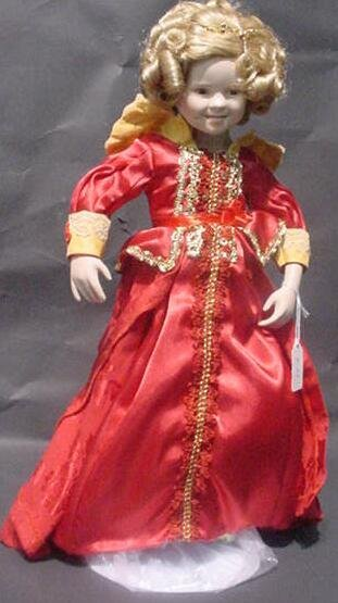 """3003: Shirley Temple Danbury Mint Doll """"Curly Top"""" In O"""