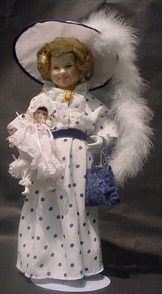 "3007: Shirley Temple Danbury Mint Doll ""Bright Eyes"