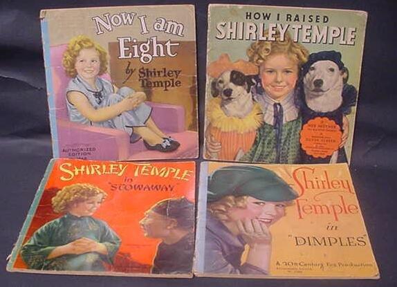 3010: Four (4) Original Shirley Temple Books