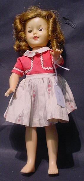 3012: Ideal Shirley Temple Doll st-12. Original Dress