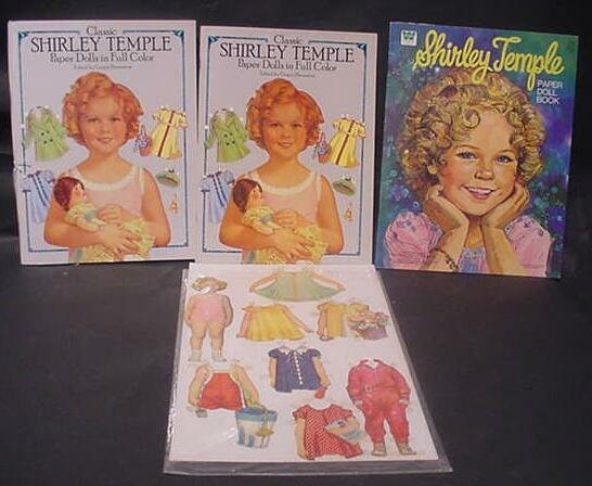 3014: Collection of Shirley Temple Paper Cut-Outs