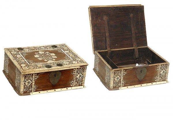 134: Early 19th Century Indian Bone Inlay Box
