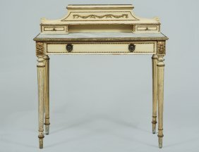 Louis Xvi Style Painted Ladies' Writing Table