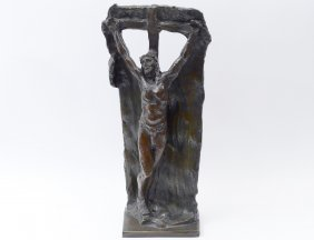 Patinated Bronze Figure Of Christ