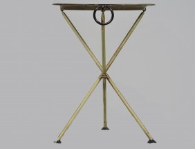 Yellow Painted Tole Tray/table