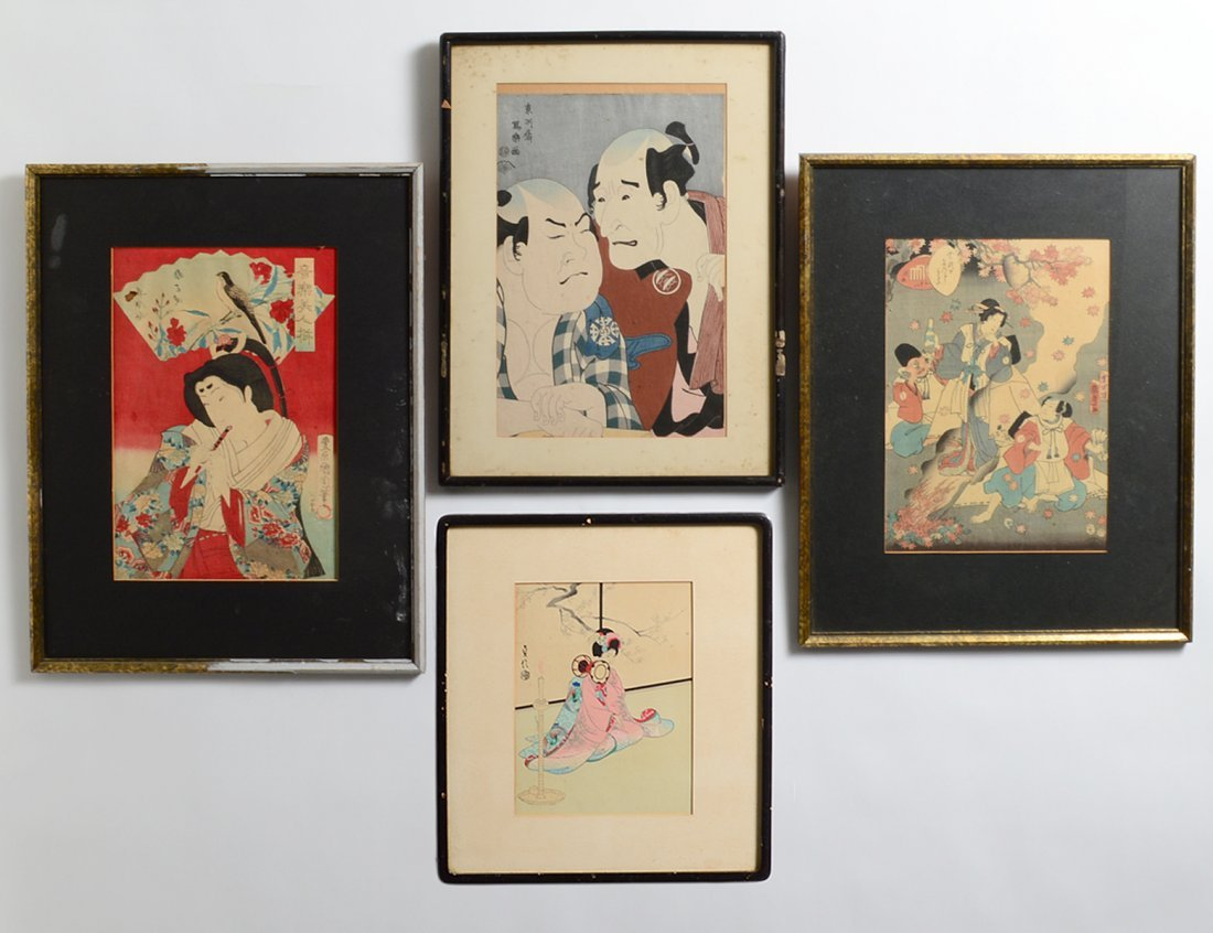 GROUP OF FOUR JAPANESE WOODBLOCK PRINTS