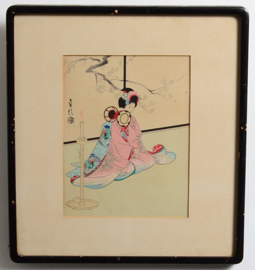 GROUP OF FOUR JAPANESE WOODBLOCK PRINTS - 2