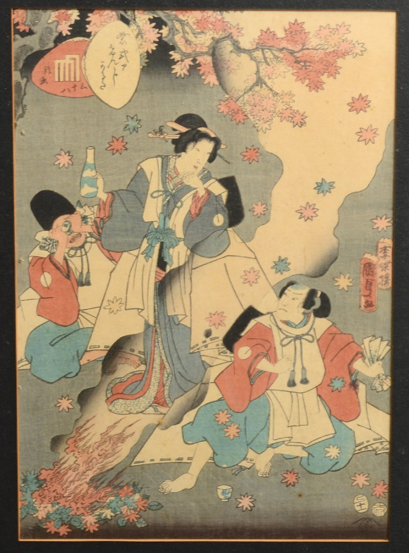 GROUP OF FOUR JAPANESE WOODBLOCK PRINTS - 4