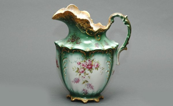 4: Large Porcelain Hand Painted Pitcher