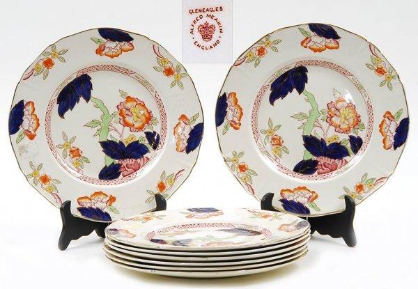 14: 8 English Alfred Meakin Gleneagles Dinner Plates