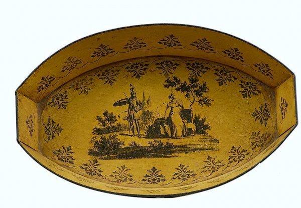 15: Italian Yellow Tole Ware Bowl