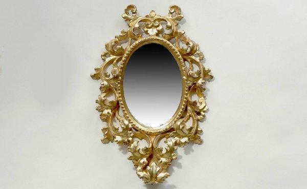 23: Antique Italian Gilt wood Mirror