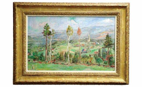 237: Hans Purrman Slenan Landscape Oil on Canvas