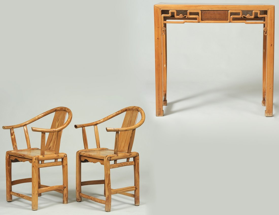 PAIR OF EXOTIC WOOD COUNTRY ARM CHAIRS