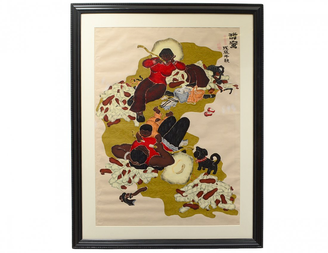 CONTEMPORARY CHINESE OIL ON PAPER