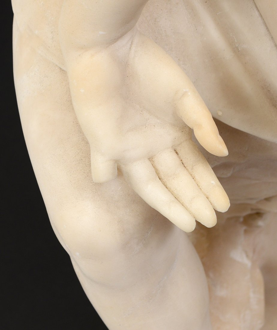 MARBLE SCULPTURE OF A CHILD - 3