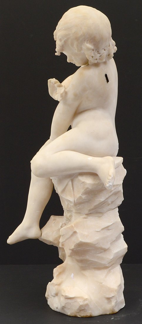 MARBLE SCULPTURE OF A CHILD - 6